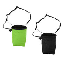 2Pcs Chalk Bags Fleece Lining Pouch Carry Attachment for Climbing Bouldering