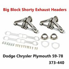 Shorty Exhaust Headers Fits Dodge Chrysler Plymouth Big Block 1959-1978 373-440
