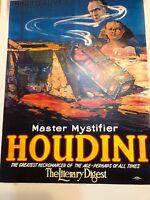 HOUDINI MAGIC Show Master Mystify Poster Print Vintage Art Entertainment
