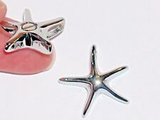 Screw Cap Starfish Bottle cage charm necklace locket urn ashes ocean pendant