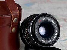 red MC FLEKTOGON 2.4/35 M42 mount lens CARL ZEISS JENA DDR + Leather Case