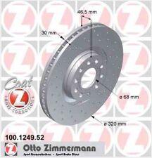 Disque de frein avant ZIMMERMANN PERCE 100.1249.52  AUDI A4 Avant 3.0 218ch 8ED,