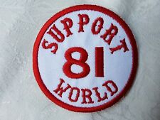 SUPPORT 81 KENT HELLS ANGELS ENGLAND Large Sew On Patch BIG RED MACHINE WORLD