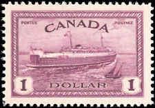 1946 Mint NH Canada VF Scott #273 $1.00 Train Ferry Issue Stamp