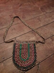 Fat Face  wooden beaded Tote Bag hippie boohoo