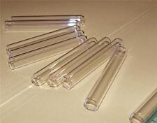 Plastic Test Tubes 20 pieces 38mm x 6mm Clear Laboratory Lab Tube Round Bottom