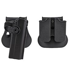 Right Hand Holster Paddle Double magazine Pouch Ammo Case Clip for 1911