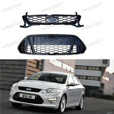 Mesh Honeycomb Front Upper+Lower Grille Set For Ford Mondeo 2011-2012