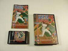 RBI R B I BASEBALL 3 - Sega Genesis - COMPLETE Game - III - !!!!!