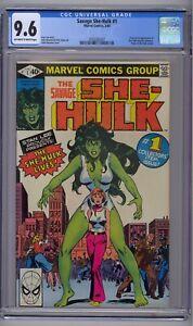 SAVAGE SHE-HULK #1 CGC 9.6 1ST APP & ORIGIN SHE-HULK