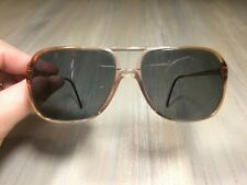 "Vintage Luxottica ""CARL"" Lite Brown Eyeglasses Frame ONLY (140 ITALY)"