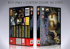 PERFECT DARK. PAL VERSION. Box/Case. Nintendo 64. BOX + COVER. (NO GAME).
