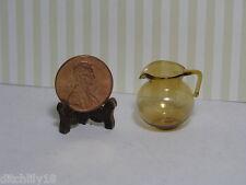 Miniature Dollhouse Amber Glass Pitcher