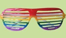 Rainbow - Gay Pride Party Mardi Gras - Rainbow Slatted Novelty Glasses