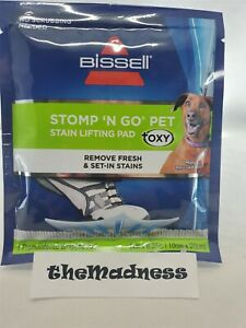 Five (5) Packs New Bissell Stomp 'N Go Pet Stain Lifting Pads