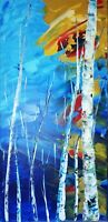 Abstract Acrylic Original Painting on canvas 10x20 inches