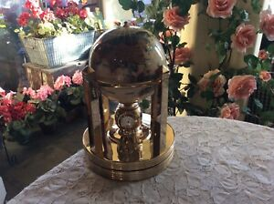 Kalifano Executive Mother of Pearl Gemstone Globe Gold  3 Clocks and Thermometer
