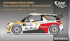 DECALS 1/43 CITROËN DS3 WRC #3 - MEEKE - RALLYE DE FRANCE 2014 - MF-ZONE D43352