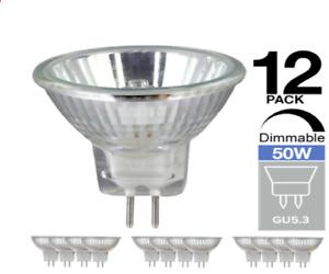 15 x GU5.3 MR16 Halogen Light Bulbs 50W 12V Dimmable Bulb M262  Dichroic Lamp