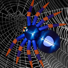 ATDAWN 8 Ft Halloween Inflatable Spider, Giant Black Purple Blow Up Spider with