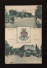 Glos Gloucestershire CHELTENHAM Trams Heraldic bi-view 1907 PPC