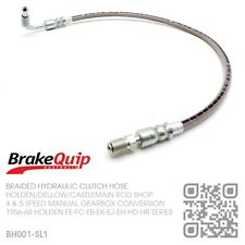 BRAIDED STAINLESS CELICA 5 SPEED CLUTCH HOSE [HOLDEN FE-FC-FB-EK-EJ-EH-HD-HR]