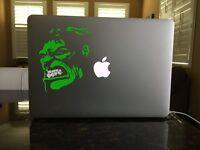 30-158 Hulk Grimace Die Cut Green Angry vinyl decal Retro Bruce Banner