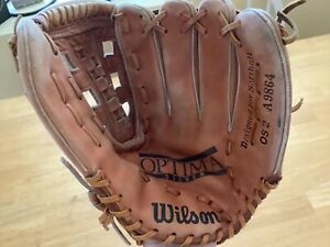 """Wilson A9864 Leather Baseball Glove Right Handed Thrower  13 1/2"""""""