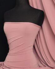 Silk Touch 4 Way Stretch Lycra Fabric Dusky Pink Q53 DPN
