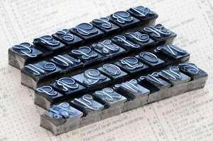 Alphabet Bleibuchstaben Vintage shabby Stempel Buchstabe Initial Lettern Drucken