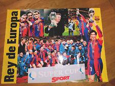 FUTBOL CLUB BARCELONA POSTER 1998 SUPER CUP CHAMPION MEASURES 80x60 cm RIVALDO