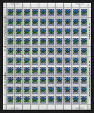 "Canada -Full Pane of 100 Ovprtd ""EXUP XI"" -Floral: Bottle Gentian #705iii -MNH"
