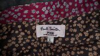 Gorgeous ladies Paul Smith Pink shirt / blouse brown floral size L 12 14