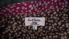 Magnifique Femme Paul Smith Rose Chemise/chemisier motif fleuri marron taille L 12 14