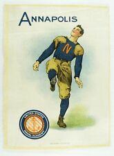 C.1910 Annapolis Us Naval Academy College Sports Tobacco Silk Vintage Original
