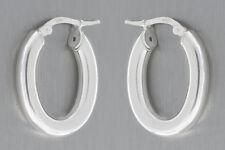 Kleine ovale Creolen Silber 925 - Ohrringe - Silbercreolen - Silberohrringe