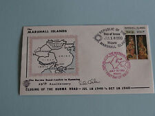 WWII FDC #12 Burma Road Britain Japan Lashio Stilwell * 50th Anniversary