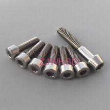 7pcs Ti Titanium Bolt Screw Kit M5 Square & M6 Conical for Headset Cap Stem FSA