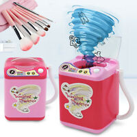 Mini Electric Washing Machine Toy Pre School Toy Wash Makeup Brushes Sponges New