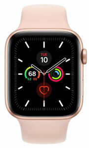 New Sealed Apple Watch Series 5 44mm Gold Alum Case w/ Pink Sand Sport Band