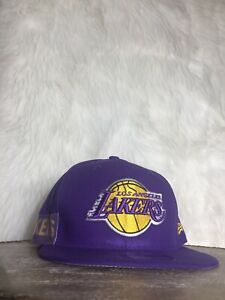 New Era Los Angeles Lakers Basketball Cap - Hat Purple Snapback