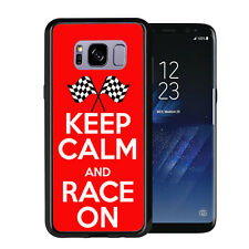 Keep calm and Race On For Samsung Galaxy S8 2017 Case Cover by Atomic Market