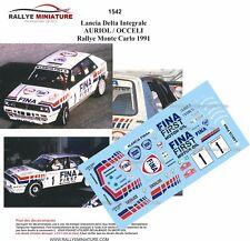 DECALS 1/24 REF 1542 LANCIA DELTA INTEGRALE AURIOL RALLYE MONTE CARLO 1991 RALLY