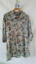 Vintage Men's Hawaiian Shirt Pierre Cardin Xxl 100% Rayon Button Down Floral