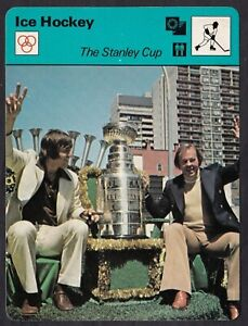 1978 British The STANLEY CUP Hockey Sportscaster Card Montreal Canadiens