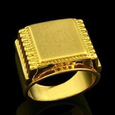 Islam musulman Allah Ring IHigh Quality Bague 18 k Or Plaqué  Bijoux Anneau