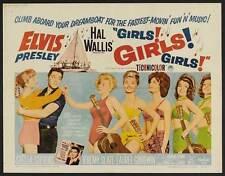 GIRLS! GIRLS! GIRLS! Movie POSTER 30x40 Elvis Presley Stella Stevens Laurel
