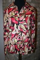 Additions by Chico's Womens Floral Blouse SZ 0