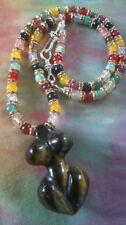 Tigers Eye Gemstone Statement Costume Necklaces & Pendants
