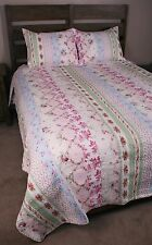 King Quilt Set Eliza Shabby Chic Beach Cottage Style Coverlet